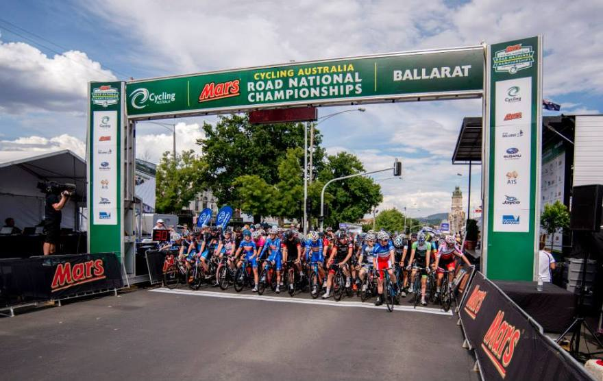 Our first championship race as AMR Renault. The start line of the U23 Nationals Criterium in Ballarat.