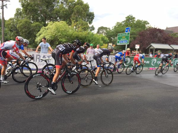 Dylan on his way to 9th in the U23 National Criterium. Not bad for his first big race as an U23 - ever!