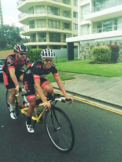 Busy weekend in store for Aaron Watts, who will be racing on all three days including the Para Cycling events with Bryce Lindores.