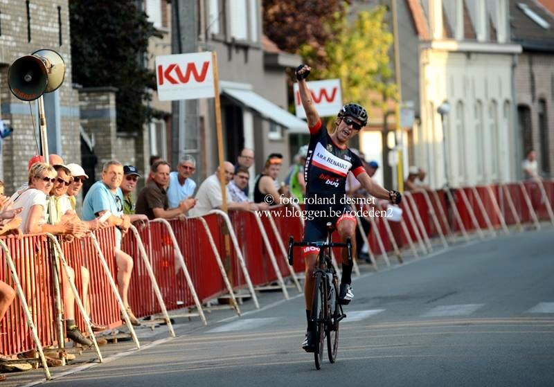 Dylan records the team's first European win in Belgium last July.