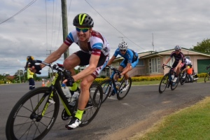 John Freiberg competing in round one of this year's QLD Road Series.
