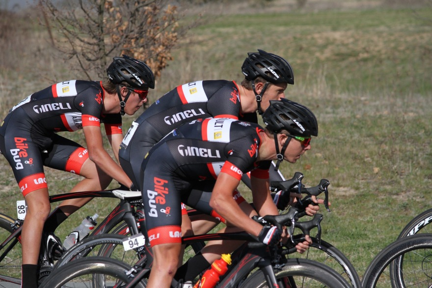 Dylan, Kris and Aaron on the charge at the 2015 National Capital Tour.